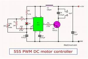 555 Pwm Dc Motor Controller Circuit