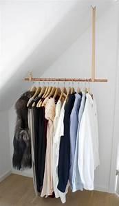 Kleiderstange Wand Holz : ankleidezimmer selber bauen ideen garderobe begehbarer ~ Michelbontemps.com Haus und Dekorationen