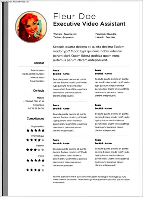 resume templates for pages mac free sles exles