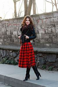 How to Style Over the Knee Boots With Skirt - Womenitems.Com