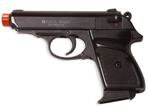 Ekol Mvp Major Front Firing Black Blank Gun  replicaairguns.us