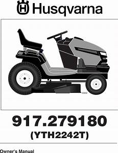 Husqvarna Yth2242t Users Manual Om  Yth 2242 T  917 279180
