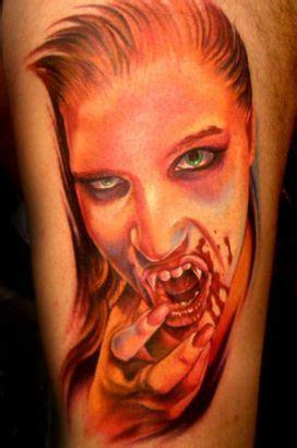 vampire girl face tattoos tattoo  itattooz
