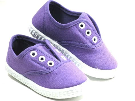 Toddler Shoes : Slipon For Baby Toddler Girls Or Boys Canvas Shoes Sizes 4