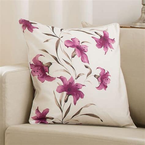lily cushion cover purple cream cm  cm tonys textiles