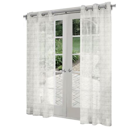 Light Filtering Privacy Curtains by Design Decor 7 Ft L Light Filtering Solid White