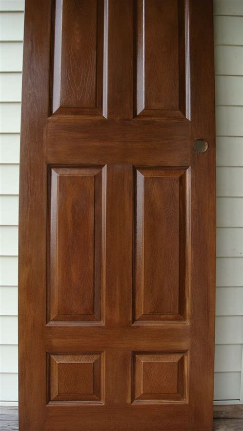 finished masonite door  stainable primer  stained