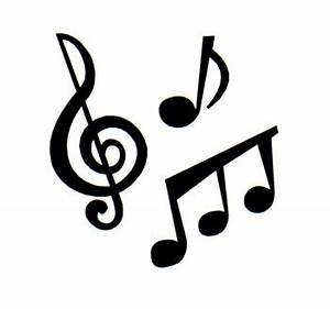 Music notes clipart black and white free clipart 4 ...