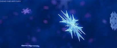 Frozen Snowflake Snow Winter Gifs Ice Disney