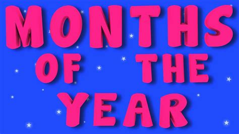 Months of the Year - YouTube