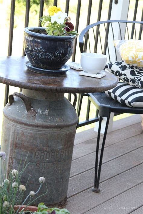 patio table top ideas diy outdoor table ideas for garden improvement
