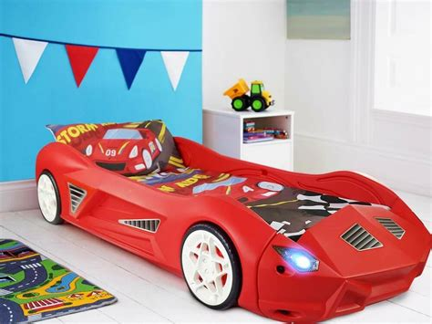 Cars Repurposed As Beds by Plastic Childrens Junior Racing Car Bed With