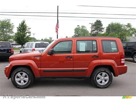 2009 Jeep Liberty by 2009 Jeep Liberty Sport 4x4 In Sunburst Orange Pearl Photo