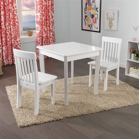 Kidkraft Avalon Desk And Chair In White by Kidkraft Avalon Table And Avalon Chairs Set In White 26644