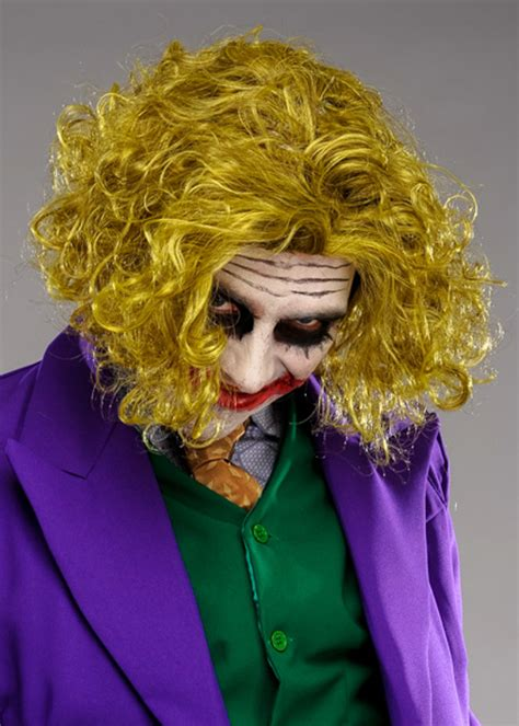 adult size messy green  joker style wig