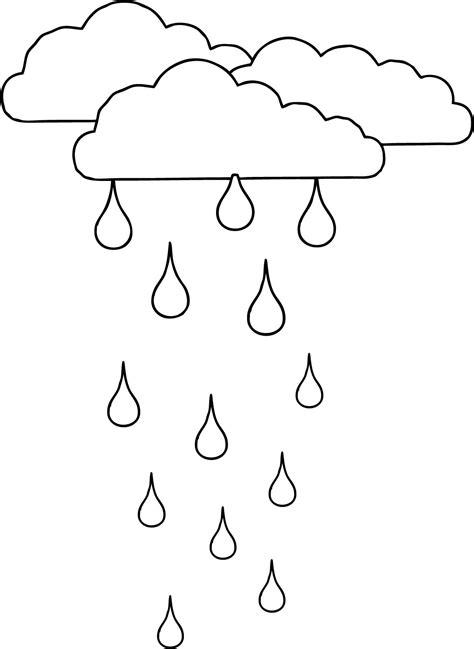 clouds rain coloring page wecoloringpagecom