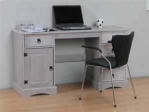 Schreibtisch Kiefer Massiv : schreibtisch new mexico kiefer massiv grau arbeitstisch ~ Lateststills.com Haus und Dekorationen