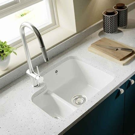 ceramic undermount kitchen sinks 1 5 villeroy boch cisterna white ceramic left handed 1 5 8119