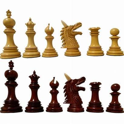 Chess Padouk Staunton Tyrant Pieces Normally Mow