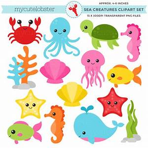 Cartoon clipart sea creature - Pencil and in color cartoon ...
