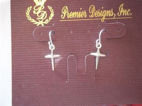 Shine Premier Designs Cross Earrings