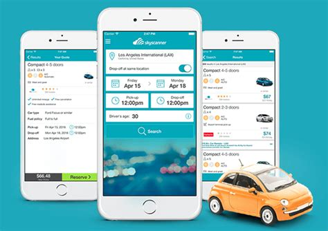 car rental apps  iphone