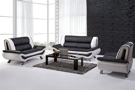 Sofa Black And White black and white leather sofa set home furniture design