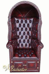 Chesterfield Porter39s Chair Antique Oxblood UK