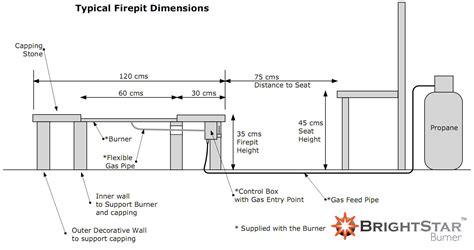 pit dimensions fire pit designs gas fire pits fr