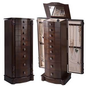 Ebay Armoire Jewelry Box by 2016 Wood Jewelry Cabinet Armoire Box Storage Chest Stand