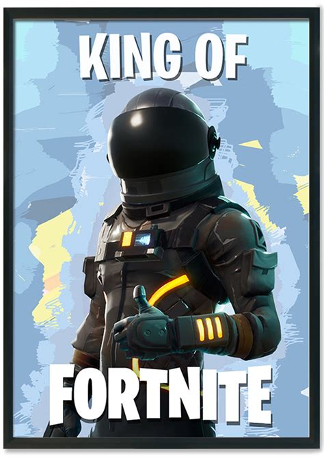 kingqueen  fortnite poster mixed design large poster