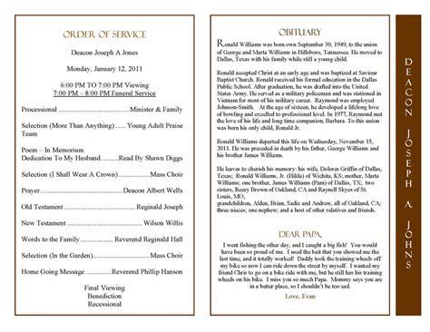 obituaries exles templates obituary program sle obituary template memorial service program