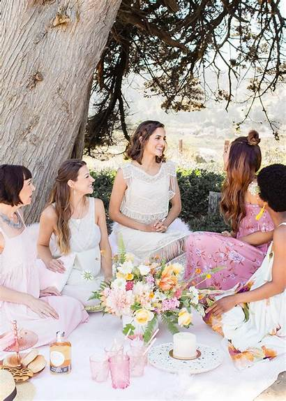Bridal Shower Party Bachelorette Garden Beach Boho