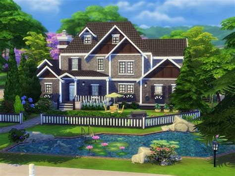 exclusive suburban house by mychqqq at tsr 187 sims 4 updates