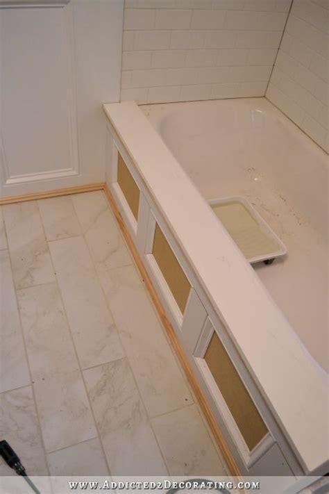 diy tub skirt decorative panel   standard soaking tub projects diy bathtub tub
