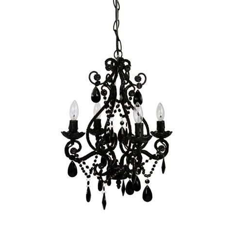 tadpoles 4 light black mini chandelier cchapl420 the