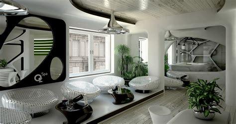 Interior Hotel Las Vegas Bedroom Bed Bath Chair Reflection