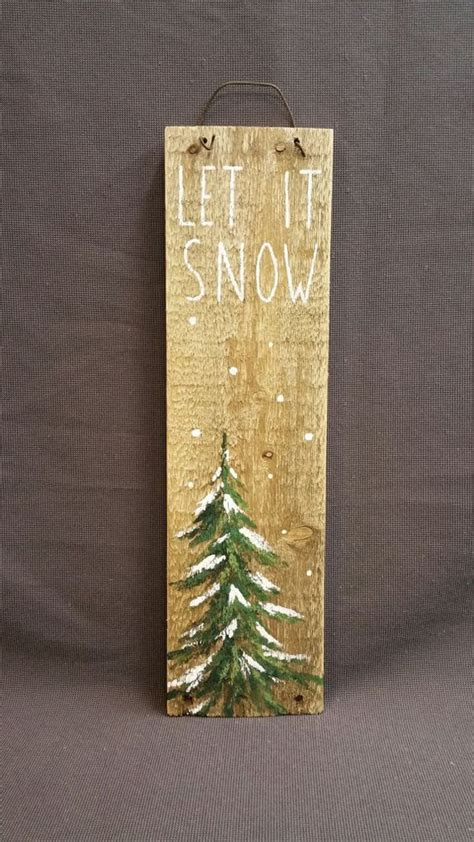 snow hand painted christmas decorations winter
