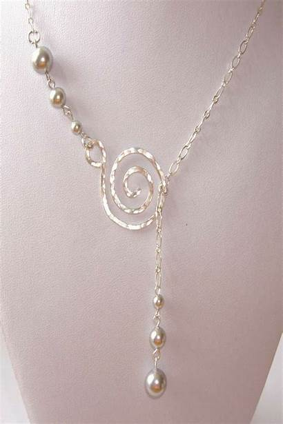 Necklace Silver Hammered Sterling Jewelry Pendant Pearl
