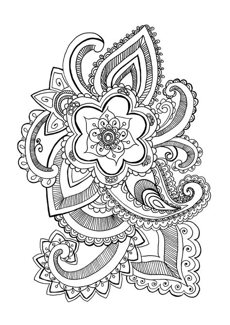 Flower celine Flowers Adult Coloring Pages