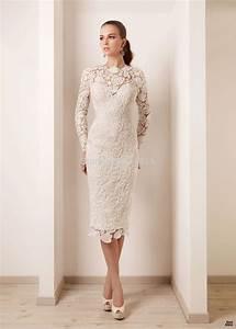 short lace wedding dress shop for short lace wedding With knee length long sleeve wedding dress
