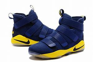 Nike LeBron Soldier 11 Navy Blue/Yellow Cheap For Sale ...