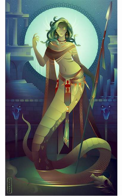 Medusa Greek Mythology Yliade Deviantart Illustrations Gods
