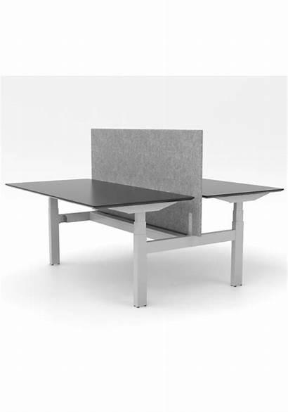 Raw Linak Cube Bench Frame Aluminium Benches