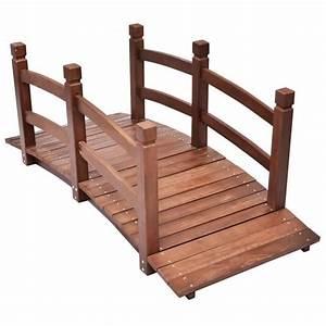 Pont En Bois Pour Jardin : pont en bois achat vente pont en bois pas cher cdiscount ~ Nature-et-papiers.com Idées de Décoration