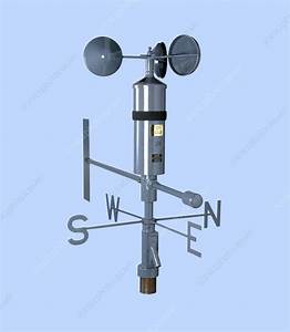 Anemometer And Wind Vane - Stock Image E180  0458