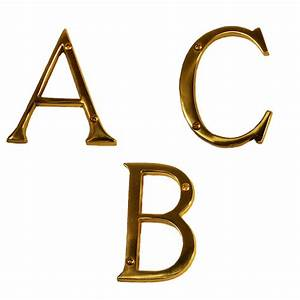 brass accents i07 l91 traditional house letters 4quot low With brass house letters