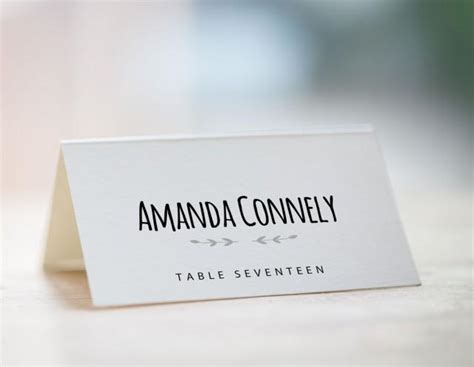 printable place card template wedding place card template