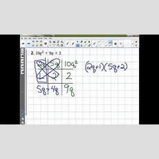 Algebra 1  Lesson 86 Factoring Trinomials Ax2+bx+c Youtube