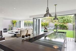 idees amenagement cuisine ouverte sur l39exterieur With idee de decoration de jardin exterieur 7 deco salon et cuisine ouverte